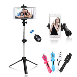 Universal Wireless Bluetooth Telefon Selfie Stick Stative ausziehbare Einbeinstative mit Bluetooth Timer Fernbedienung für iPhone X SamSung