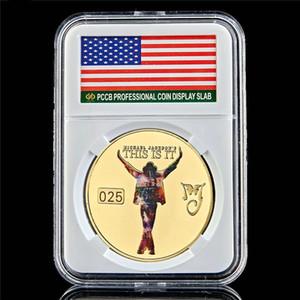 Dekoration Michael Jackson US-Pop-Sänger 1 Unze Gold überzogene Münzen Collectibles Neujahr Geschenk W / PCCB Box