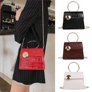 Women Stone Pattern Messenger Pu Bag Fashion Patent Leather Bag Handbags Women Bags Designer 30