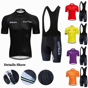 2020 Nuovo Strava Pro Cycling Jersey Set 9D Gel imbottito MTB biciclette Abbigliamento Ropa Ciclismo Maillot Ciclismo Imposta Bike Sportwears