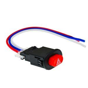 Motosiklet Çift Flaş Uyarı Acil Lambası Anahtarı Tehlike Işık Düğmesi Sinyali Flaşör 3 Telleri Motosiklet Aksesuarlar