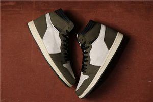 Autentica qualità Travis Scott 1 Alta Cactus Jack pallacanestro Designer Shoes Novità I Sail Nero Testa di Mocha Università Red Fashion Sneakers