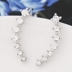 Ухо манжеты CZ Кристалл серьги мода высокое качество уха манжеты клип серьги ювелирные изделия для женщин