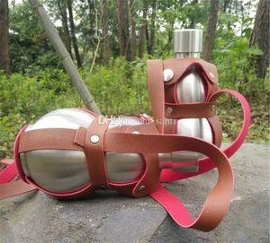 Home Garden Dining Bar 500ml Stainless steel hip flask outdoor Metal wine bottle Whiskey Drinkware