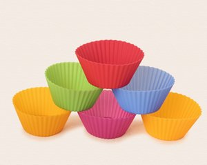7CM Silicone Muffin Cake Cupcake Cup Cake Mould High Temperature Resistance Case Bakeware Maker Mold Tray Baking YD0563