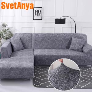 Svetanya Abdeckung für Sofa Couch Stuhl leastic Volltonfarbe L Schnitt Sofa Covers