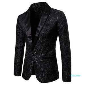 Slim Fit Blazer Men New Arrival Mens Floral Blazers Floral Prom Dress Blazers Elegant Wedding Blazer and Suit Jacket Men XM01