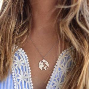 Weltkarte Halskette Runde Welt Globetrotter Halskette Hohl Erde Weltkarte Halskette Schmuck im Freien Globus Wanderlust Geschenk
