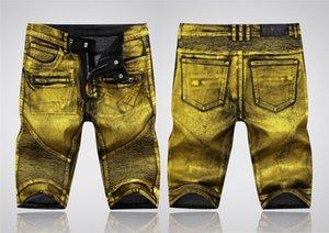 New 2020 Mens Jeans Designer Ripped Stretch Denim Shorts Mens Casual Fashion Popular Denim Shorts Mens denim shorts