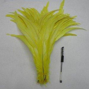 Coque negro Gallo pluma de cola del gallo de la pluma de cola de plumas de bricolaje accesorios de la joyería de la boda ejecución Suministro 35-40cm plumas de pollo