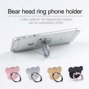 360 degrés Annulaire Support de portable Bear Head Smartphone Support à Mont Support pour IOS Android Tous Smart Phone