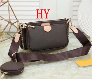 Bolsos de las mujeres bolsos pochette favorito de 3 piezas accessoires bolso crossbody hombro de la vendimia bolsas M44823 cuero oxidante correa de 6 colores