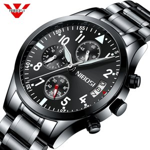 NIBOSI Mens Watches Top Brand Luxury Business Quartz Watch Men Stainless Steel Band Clock Relogio Masculino Horloges Mannen