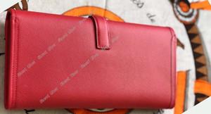 Aber 15 cor New Geometric Envelope Clutch Wallet For Women Feminino de cartões de bolsa de couro genuíno Titulares de telefone de alta qualidade bolso carteira Long