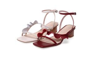 Kmeioo Estate Square New Sandali Fibbia Strap scarpe da donna dolce sandali femminili casuali