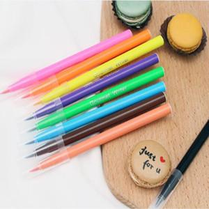 Yenilebilir Pigment Kalem 5 ml DIY Gıda Boyası Kalemler 10 Renkler Bisküvi Fondan Kek Yazma Boyama Fırça Kek Dekorasyon aracı toptan