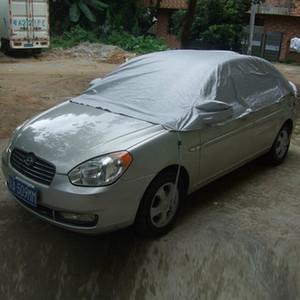 Universal Half Car Cover Protection solaire UV pluie poussière neige Résistant Covers Durable 3.35Mx1.5M Automobile Accessoires pour les soins de voitures