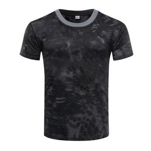 Moda LeadSummer camuflaje camiseta de secado rápido transpirable Medias ejército táctico camiseta para hombre Camiseta de compresión de fitness al aire libre Correr