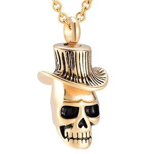 Pendentif squelette en acier inoxydable Crémation Collier Memory Ashes Bijoux Collier Keepsake Urne