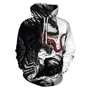 Marka hoodie 2019 erkek Moda kapüşonlu sweatshirt Uzun Kollu tasarımcı vetements 3d yazıcı Spiderman komik bayan erkek hoodies coat