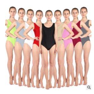 Adulte Femmes Blanc Gymnastique Orange Vert Noir Léotard Ballet Dancewear Metallic Danse Léotard Bodysuit Gymnastic Unitard