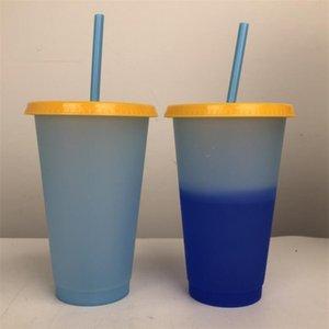 Water Cup Пластиковая чашка Coffee Cup Защита окружающей среды PP Термочувствительная пипетка Изменение цвета Чувствительная к магии Вода