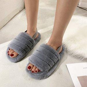 AARDIMI Flock Sevimli Bayanlar Sandalet Kadınlar Sweet Ayak bileği-Wrap Ayakkabı Kadın Düz ile Elastik Bant Terlik Kadın Sığ Günlük Ayakkabılar