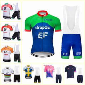 EF Education First Team Ciclismo manga corta jersey babero conjuntos conjuntos Venta caliente transpirable ropa de carreras MTB bicicleta ropa ciclismo nuevo U80222