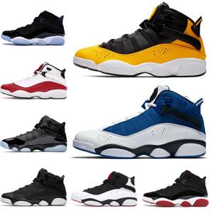 los hombres zapatos de baloncesto 6 seis anillos Concord confeti Taxi Bred Space Jam oro metálico para hombre entrenadores de atletismo Deportes zapatillas de deporte 7-13