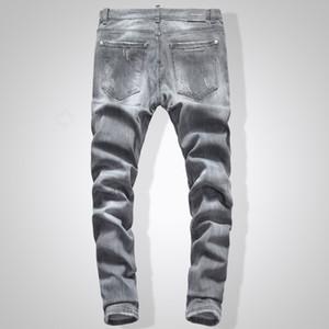 2020 High street marée D2 hommes jeans nouvelle tendance lavé taille basse petits pieds trous pantalon étroit haute qualité D2 jeans Europe et Amérique