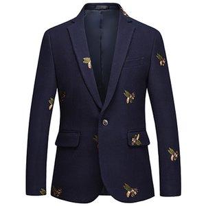 Bees Blazer Men Fashion Wedding Prom Blazers Single button For Male Stylish Suit Jacket