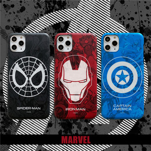 Hot Marvel case for iphone X 11 PRO XS MAX XR 8 7 6 6s plus phone cover soft matte 3d silicon iron Man Spiderman Avengers coque CASE