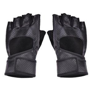 Men Professional Workout Training Workout Fitness Sports Wristwrap Weight Lifting Gloves (Color: Black)