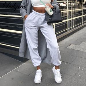 Dulzura pamuk kadınlar kalın kargo pantolon jogging yapan eşofman dipleri pantolon activewear streetwear 2019 sonbahar kış kıyafetlerini gevşek