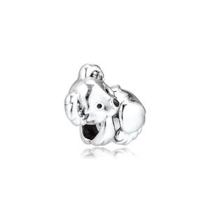 CKK Lovely Koala Charms 925 Original Fit Pandora Bracelets Sterling Silver Charm Beads for Jewelry Making Bead Berloque