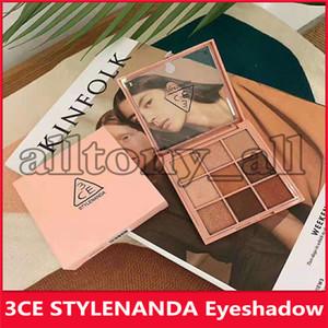 أعلى جودة 3CE 9 ألوان ظلال العيون تجاوز 9 ألوان لوحة ظلال العيون الأرض اليقطين عينيه ماكياج