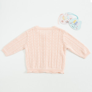 INS baby kids clothing sweater Solid Color Knitted Cardigan sweater 100% Cotton Boutique 100% cotton spring fall Girl sweater