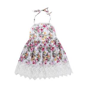 Amazon ins straniero commercio esplosioni gonna per bambini estate ragazza vestito floreale pizzo abito da principessa in pizzo