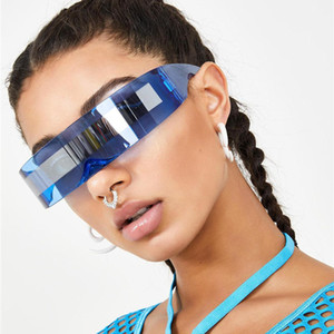солнцезащитные очки женщин негабаритные очки Future Soldier ВС очки Weird сиамских прохладно солнцезащитные очки Supplies украшения WOMENS очки
