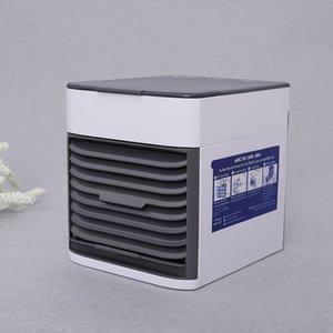 المحمولة مكيف هواء صغير الهواء تبريد مع أضواء LED USB الهواء مروحة تبريد مرطب لتنقية 3 في 1 وزارة الداخلية