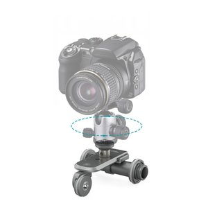 Freeshipping Motorized Elelctric Track Slider Dolly Car 3-Wheel Video Pulley Rolling Skater para Cannon Nikon Sony para iPhone 7