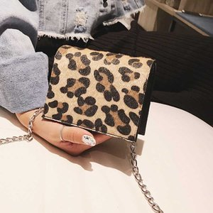 Crossbody leopardo MANFUNI Bolsa de la Mujer 2019 Crossbody del mensajero bolso de mano femenino Mini cadena del bolso de las mujeres Pequeña Bolsa de hombro