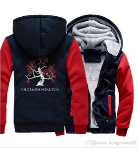 Designer clothes new autumn and winter plus velvet thick mens sweater anime luminous printing hooded cardigan coat factory direct sales