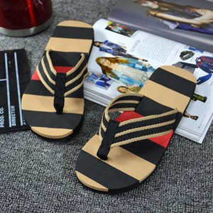 Shoes Men Slipper Men Summer Stripe Flip Flops Shoes Sandals Male Slipper Flip-flops 2019 New Arrival Summer zapatos de hombre