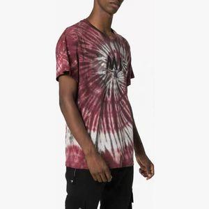 TOP 20SS AM1R1 color del logotipo camiseta a juego High Street monopatín de manga corta de verano teñido anudado de la camiseta de los hombres ocasionales de las mujeres de moda tee HFYMTX746