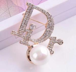 Hot cristal Rhinestone Carta Broche Pin oca Corsage Broches Mulheres Moda Bijuteria Decoração Top Designer para o Natal 663