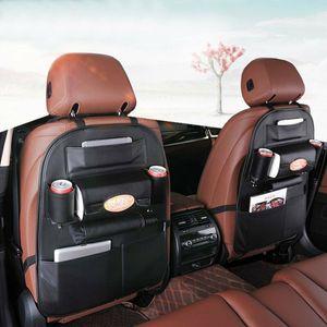 2PCS Auto Car Storage Bag Seat Multi Pocket Travel Storage Hanger Car Styling Back Seat Cover Organizer Holder Backseat Brown