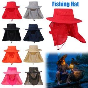 Fishing Hat Sun Cap Protection Neck Face Outdoor Sport Anti-UV Flap Cap Cycling Hiking Fashion Men Women Summer Accessories