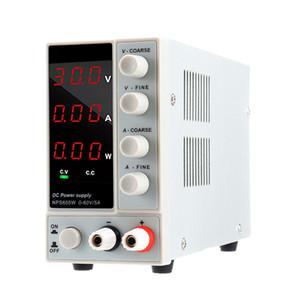 NPS605W 110V / 220V 0-60V 0-5A ajustável Digital DC Power Supply 300W Regulamentado Laboratório comutação carro Power Supply Voltage Current