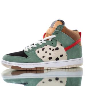 SB Dunk Hi Pro Bota Yüksek Top Sneakers Erkek Kadınlar Leopard Walk Süet Kaykay Basketbol Ayakkabı Tasarımcısı Eğitmenler CHAUSSURES Koşu Ayakkabıları